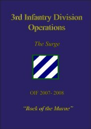 3rd Infantry Division Operations - Fort Stewart - U.S. Army