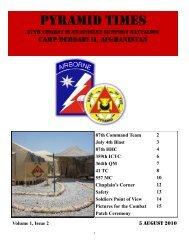Pyramid times - Fort Stewart - U.S. Army