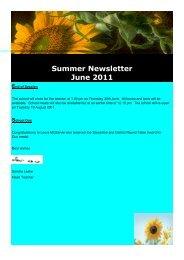 Stewarton Academy Summer Newsletter June 2011 End of Session