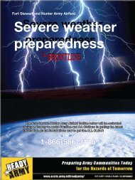 Severe weather preparedness - Fort Stewart