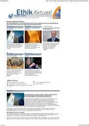 Ethik Aktuell - Ausgabe 1/2010 - Steyler Bank GmbH
