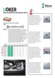 Das erweiterte Sortiment 2013 - Steyr-Werner