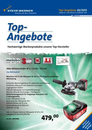Top-Angebote 02/2013 - Steyr-werner.at