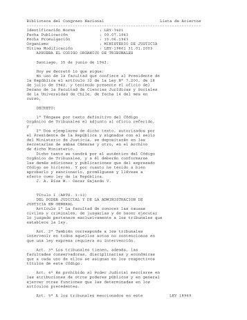 Código Orgánico de Tribunales - STF