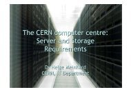 The CERN computer centre: Server and Storage Requirements