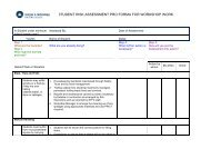 STUDENT RISK ASSESSMENT PRO FORMA FOR ... - STFC