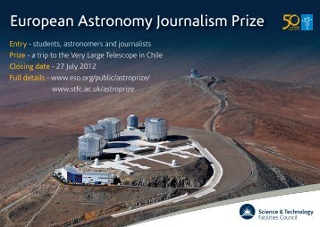 European Astronomy Journalism Prize - Science & Technology ...