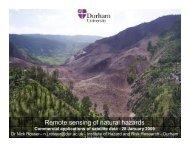 Remote sensing of natural hazards