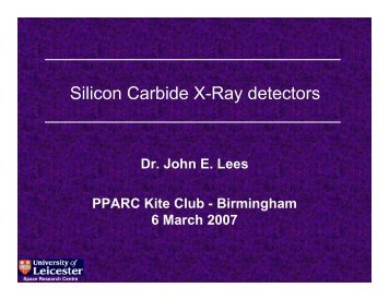 Silicon Carbide X-Ray detectors