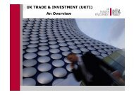 UK TRADE & INVESTMENT (UKTI) An Overview - STFC