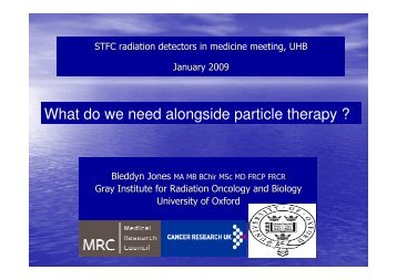 What do we need alongside particle therapy?