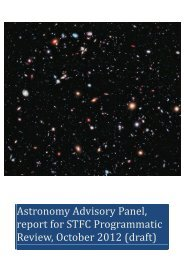 Astronomy Advisory Panel - Science & Technology Facilities Council