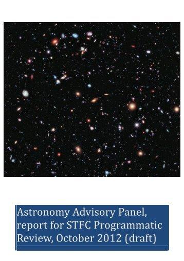 Astronomy Advisory Panel - Science & Technology Facilities Council