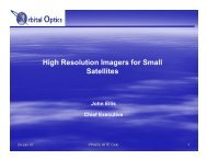 High Resolution Imagers for Small Satellites