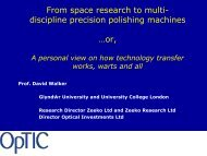 From space research to multi discipline precision polishing machines