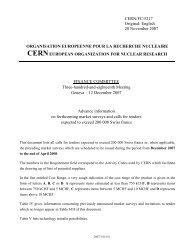 CERN/FC/5217 Original: English 20 November 2007 ...