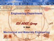 Mechanical Engineering at CERN