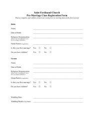Registration Form - St Ferdinand Parish - Home Page