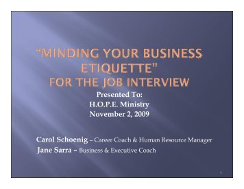 Minding Your Business Etiquette