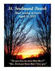 April 14 - St Ferdinand Parish