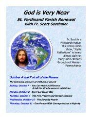 Sept 23 - St Ferdinand Parish