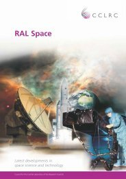 RAL Space - latest developments in space science and technology