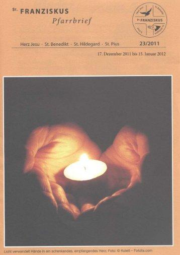 Pf_23_11_web.pdf - Pfarrgemeinde St. Franziskus Bremen