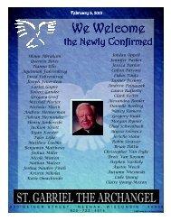 February 3 - St Gabriel Parish