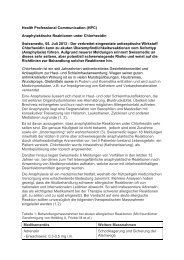 Chlorhexidin - Anaphylaktische Reaktionen (05.07.2013)