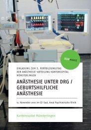 anästhesie unter drg / geburtshilfliche anästhesie - Spital Thurgau AG