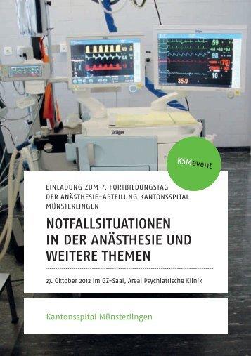 notfallsituationen in der anästhesie und weitere themen