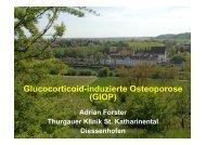 Glucocorticoid-induzierte Osteoporose (GIOP) - Spital Thurgau AG