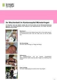 Wochenbett (verschiedene Poster) - Spital Thurgau AG