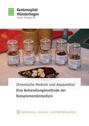 Chinesische Medizin und Akupunktur Eine Behandlungsmethode ...