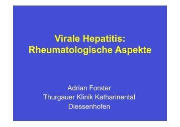 Virale Hepatitis, Rheumatologische Aspekte - Spital Thurgau AG