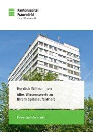 Wissenswerte zu Ihrem Spitalaufenthalt - Spital Thurgau AG