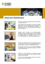 Ablauf einer Radiotherapie