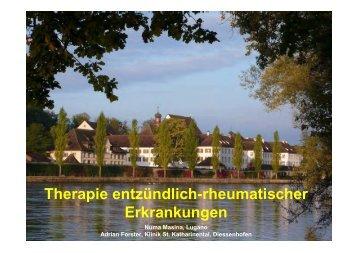 Therapie entzündlich-rheumatischer Erkrankungen