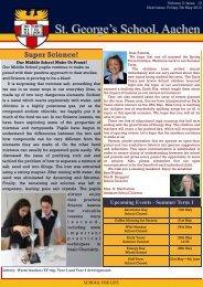 Newsletter week 26 - St. George's The English International School