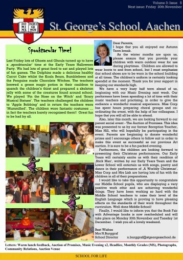Newsletter wk9 a - St.George's School