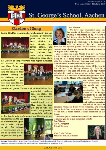 Newsletter week 32 - St. George's The English International School