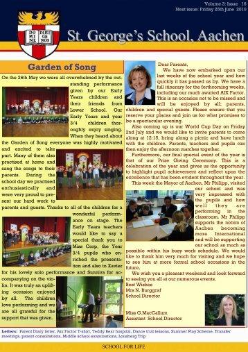 Newsletter week 32 - St. George's The English International School
