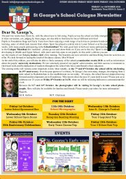 St George·s School Cologne Newsletter - St.George's School