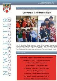 Universal Children's Day - St.George's School