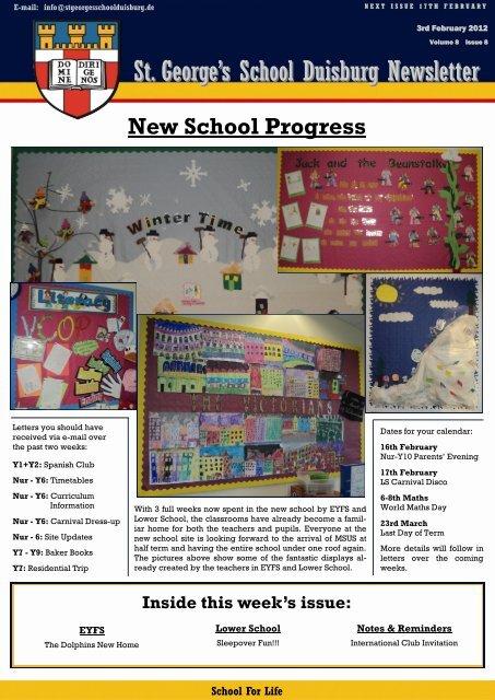 St George S School Duisburg Newsletter