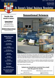 St. George's School Duisburg Newsletter
