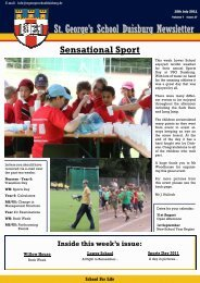 St. George's School Duisburg Newsletter - St. George's The English ...