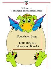 Foundation Stage Little Dragons Information Booklet - St.George's ...