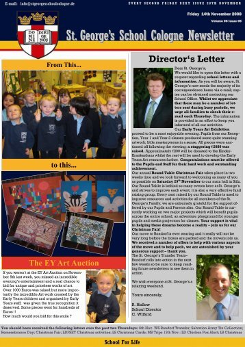 St. George's School Cologne Newsletter - St. George's The English ...