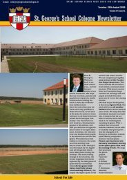 St. George's School Cologne Newsletter St. George's School ...